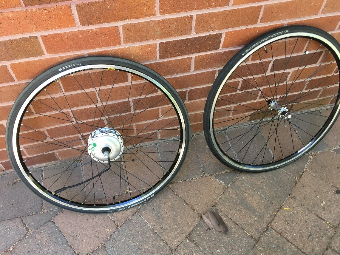 Two front wheel options