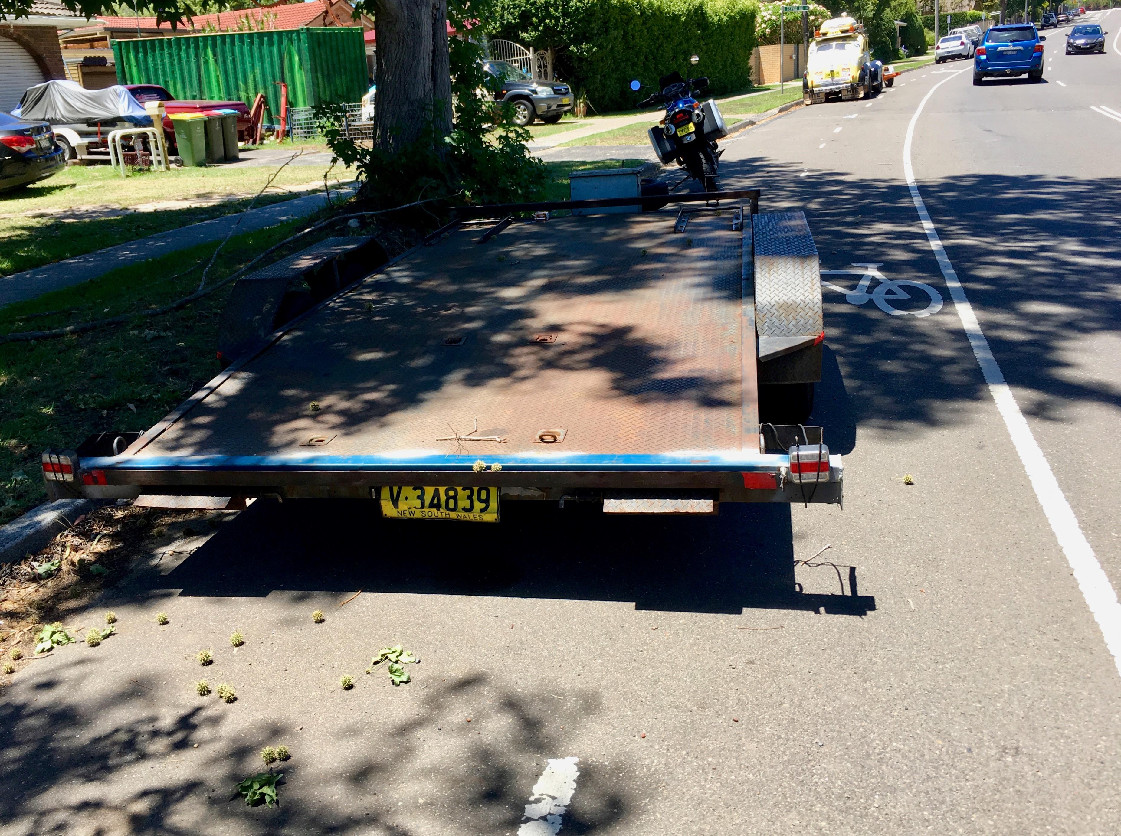 trailer parked