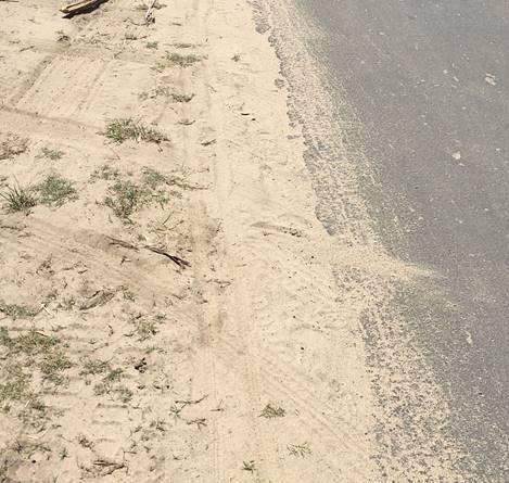 Figure 5 - Sand hazard at road edge